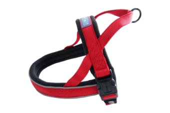 Dog & Co Norwegian Reflective Nylon Dog Harness (Red)