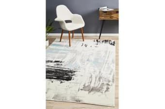 Felicia Blue & Charcoal Soft Coastal Rug 290x200cm