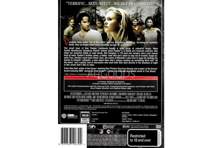 True Blood - Region 4 Rare- Aus Stock DVD PREOWNED: DISC LIKE NEW