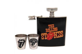 The Rolling Stones Hip Flask Set (Black) (One Size)