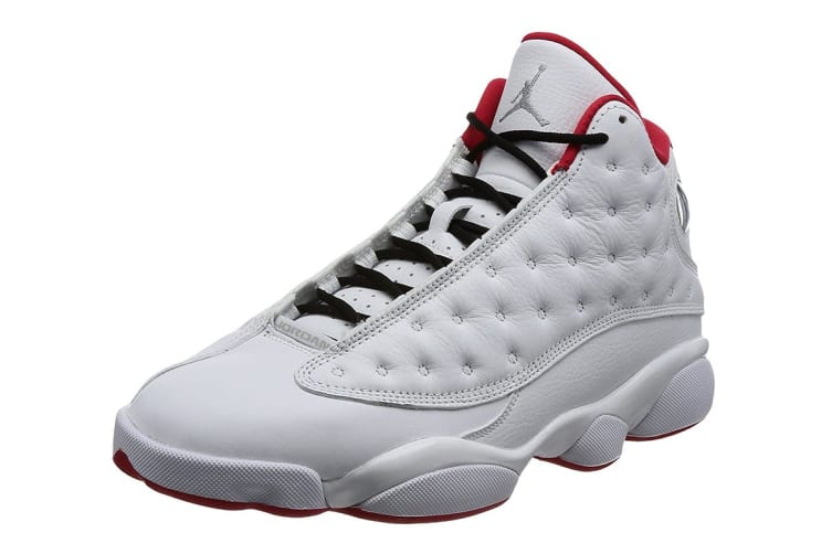 huge discount 3a605 9327d Nike Men's Air Jordan 13 Retro History of Flight Shoe  (White/Silver/University Red, Size 9 US) | Shoes