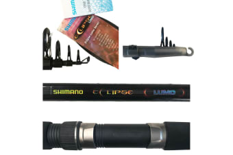 Shimano Eclipse Lumo Travel - Telescopic Fishing Rod with Luminous Solid Tip [Length/Line Rating: 7ft/4-5kg]