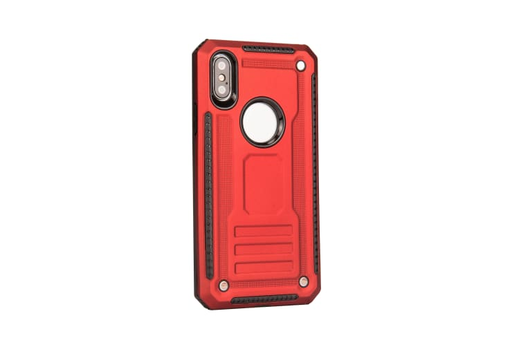 For iPhone XR Case  Armour Strong Shockproof Thin Tough Protective Cover  Red