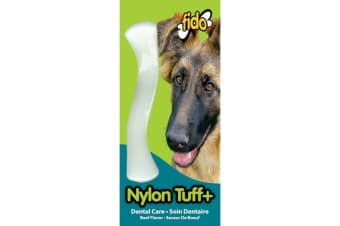 Nylon Nylon Dog Tuff+ Bone - Beef Flavoured - Medium - 16cm - Fido