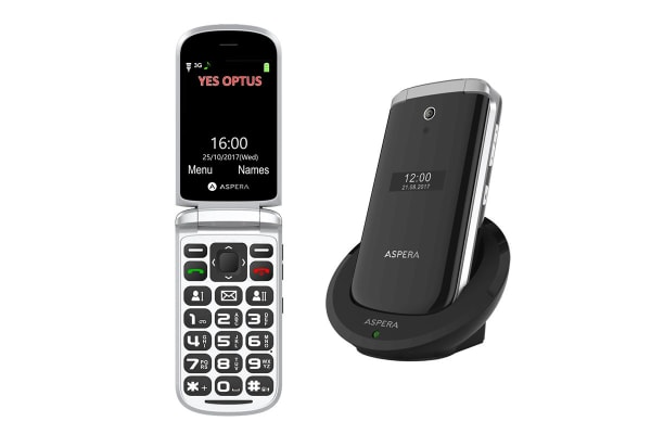 Aspera F28 Flip Seniors Phone (Black)