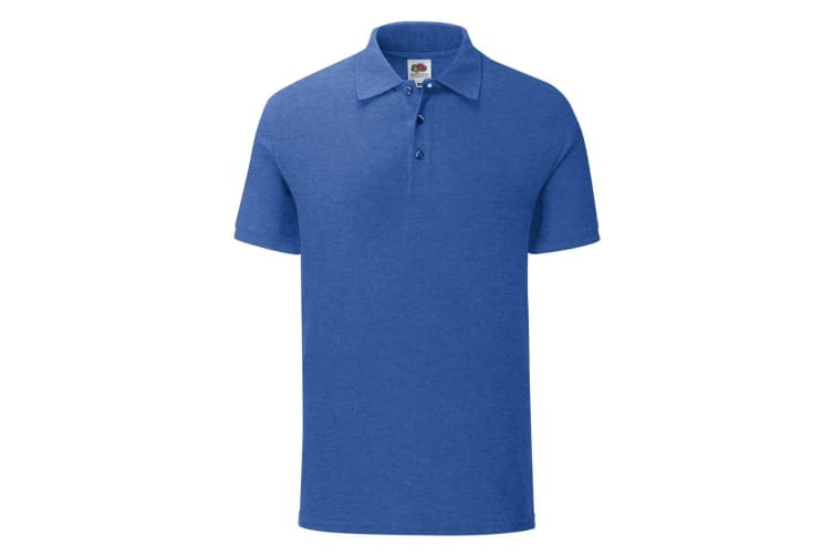 Fruit Of The Loom Mens Iconic Pique Polo Shirt (Heather Royal) (L)