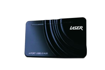 Laser Hub USB3.0 4 Port Powered with Cable (Black)