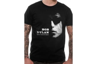 Bob Dylan Unisex Adults Fifty Years Of Music Design T-Shirt (Black)
