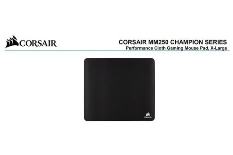 Corsair MM250 Champion Series X-Large Anti-Fray Cloth Gaming Mouse Pad.  450x400mm 2 Years Warranty