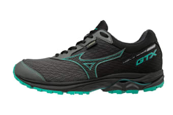 Mizuno Women's WAVE RIDER 22 GTX Running Shoe (Gunmetal/Black/Billard, Size 5.5 US)