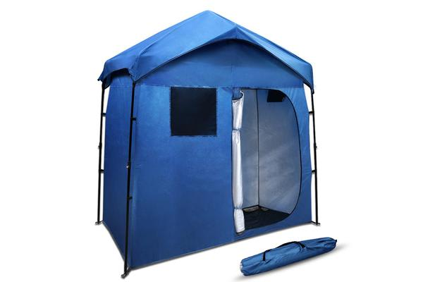 Portable Pop Up Outdoor Toilet and Change Room Tent (Blue)
