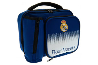 Real Madrid FC Fade Pattern Lunch Bag (Blue/White)