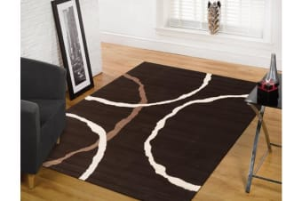 Uber Cool Brown Rug Beige Ivory Rug