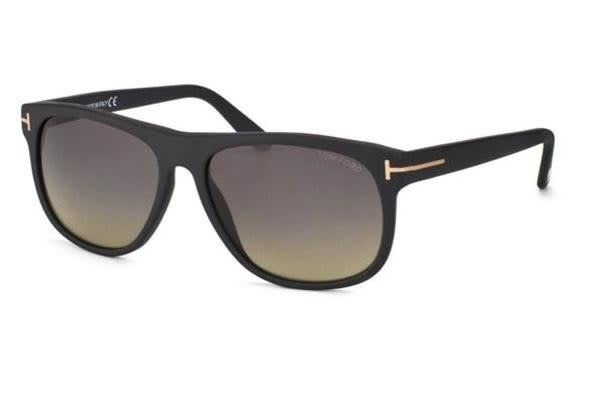 Tom Ford FT0236 - Matte Black (Smoke Polarised lens) Mens Sunglasses