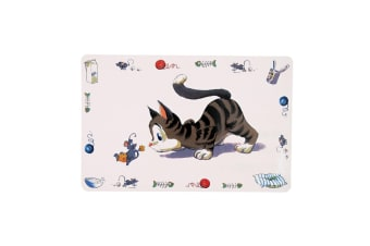 Trixie Comic Cat Place Mat (White)