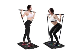 Centra Portable Slim Gym Trainer Platform Body Shaper Exercise Fitness Black