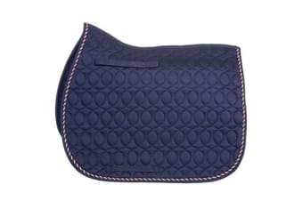 HySPEED Deluxe Saddle Pad With Cord Binding (Navy/Red/White/Blue)