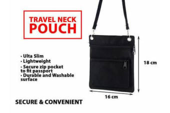 Travel Secure Neck Pouch Passport Card Ticket Money Secret Wallet Holster Bag