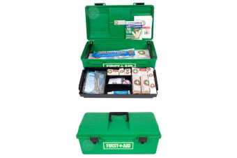 48pc Emergency Medical First Aid Kit Portable Case/Handle Work/Office/Home/Car