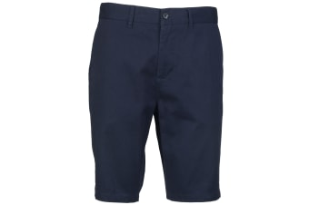 Front Row Mens Cotton Rich Stretch Chino Shorts (Navy) (32)