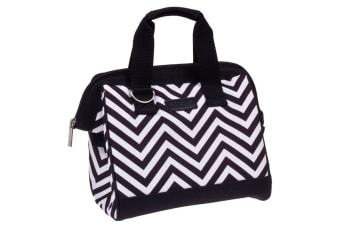 Sachi Insulated Lunch Bag carry Tote Storage Travel Bag Chevron Stripe