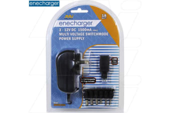 Enecharger 18W Power Supply 100-240VAC Input to Output DC at 1.5 Amp