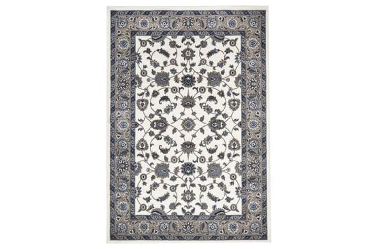 Classic Rug White with Beige Border 290x200cm