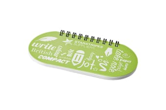 Desk-mate Capsule Notebook (Lime Green/Solid Black) (One Size)