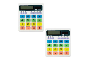 2PK Marbig Coloured Desk Calculator Desktop 8 Digit