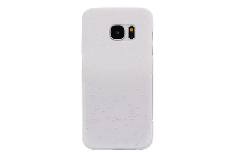 For Samsung Galaxy S7 Case Modern Gradient Water Droplets Shielding Cover White