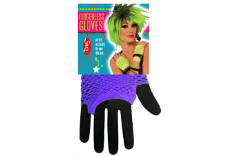 Silky Womens/Ladies Short Fishnet Gloves (1 Pair) (Bright Purple) (One Size)