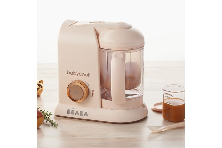 NEW BEABA BABYCOOK SOLO BABY FOOD PROCESSOR STEAM COOK BLEND DEFROST ROSE GOLD