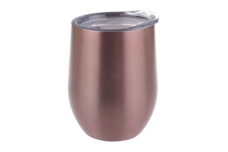 Oasis 330ml Double Wall Wine Tumbler Stainless Steel Rose