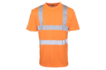 RTY High Visibility Mens High Vis T-Shirt (Pack of 2) (Fluorescent Orange)