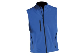 SOLS Mens Rallye Soft Shell Bodywarmer Jacket (Royal Blue) (XL)