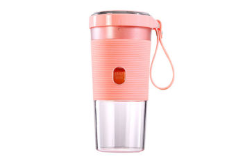 WJS Portable USB Rechargeable Wireless Juice Cup Outdoor Electric Charge Juicer Multi-Function Juicer For Baby Travel-Pink