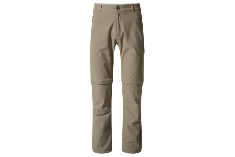Craghoppers Mens NosiLife Pro Convertible II Trousers (Pebble) (40R)