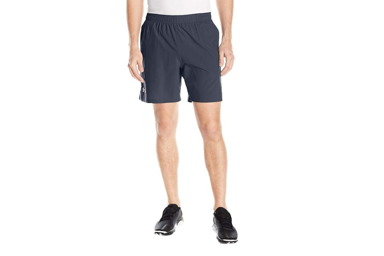 """Under Armour Men's Launch 7"""" Shorts (Stealth Gray/Reflective, Size Small)"""