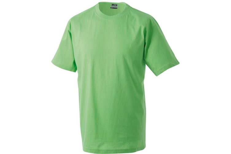 James and Nicholson Unisex Heavy Round Tee (Lime Green) (M)