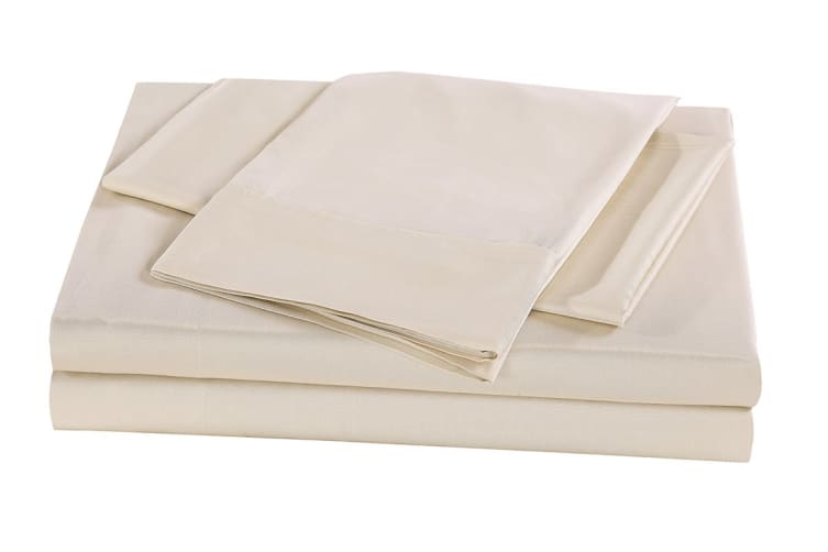 Royal Comfort 100% Natural Bamboo Bed Sheet Set (Double, Beige)