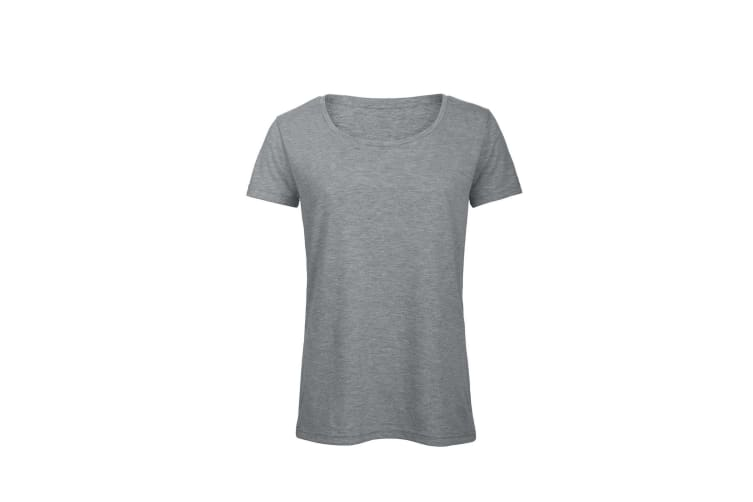 B&C Womens/Ladies Favourite Cotton Triblend T-Shirt (Heather Light Grey) (S)