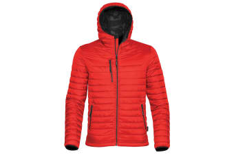 Stormtech Mens Gravity Hooded Thermal Winter Jacket (Durable Water Resistant) (True Red/Black) (M)