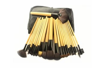 24Pcs Cosmetic Brushes And Multicolored Cosmetic Tools Log Color