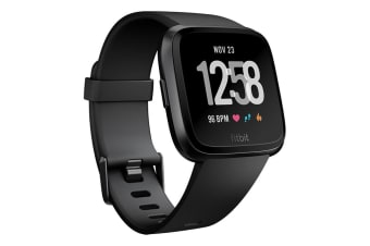 Fitbit Versa Smart Fitness Watch - Black Aluminium