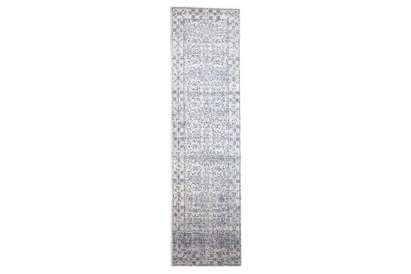 Whisper White Transitional Rug 400x80cm