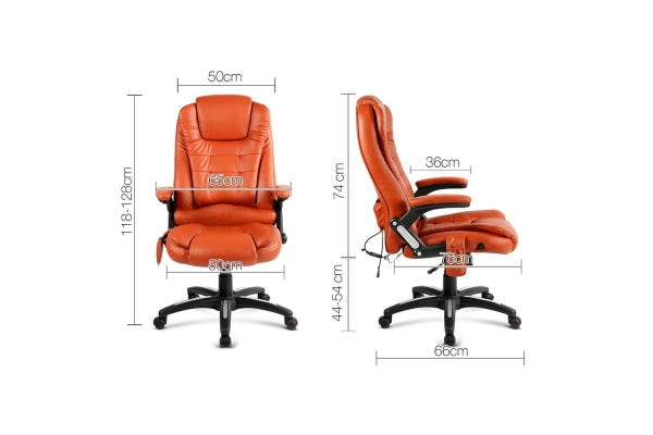 8Point Heated Massage Office Chair Amber