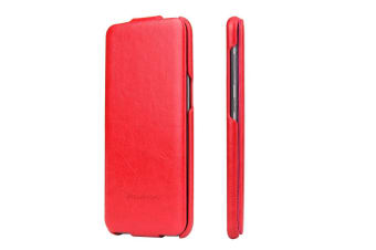 For Samsung Galaxy S8 Case Fashion Elegant Vertical Leather Flip Cover Red