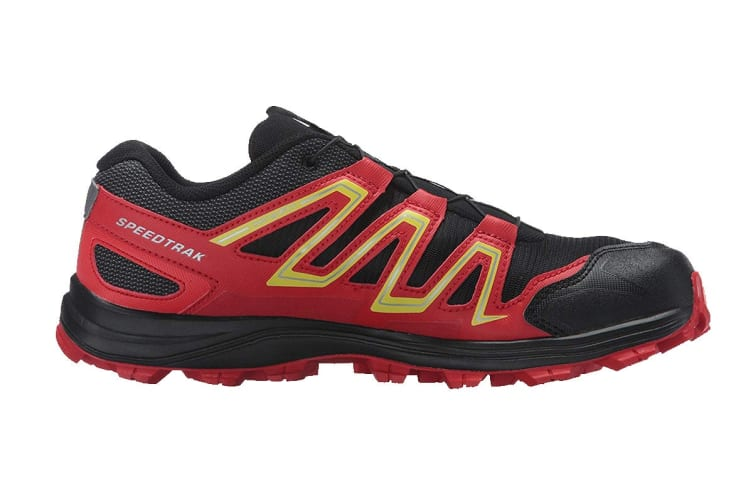 Salomon Men's Speedtrak (Black/Radiant Red/ Yellow, Size 10.5)