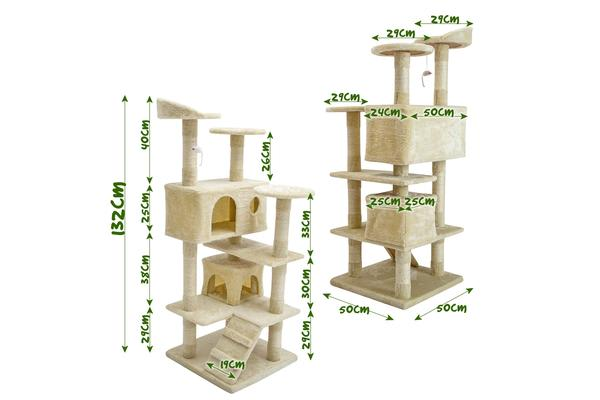 Cat Tree Scratcher SOHO 132cm - BEIGE