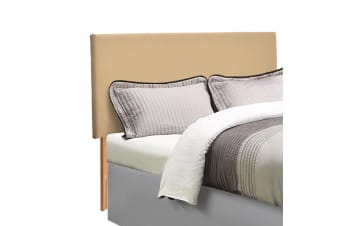 Levede PU Leather Bed Headboard with Wooden Legs in Queen Size in Cream Colour  -  QueenQueen